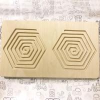 Межполушарная доска - деревянный лабиринт (многоугольник)