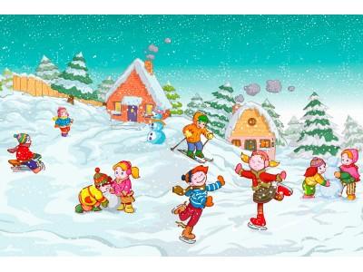 <Зимние игры для детей