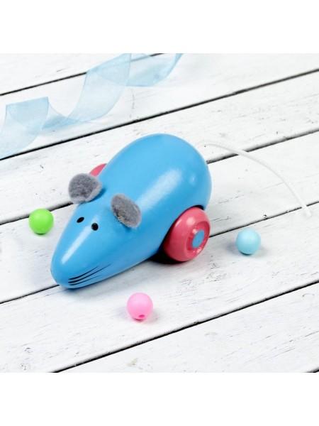 Деревянная Мышка синяя Визир