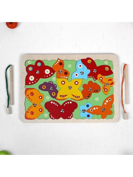 Магнитная мозайка-пазл рыбалка Бабочки, Крона 143-025