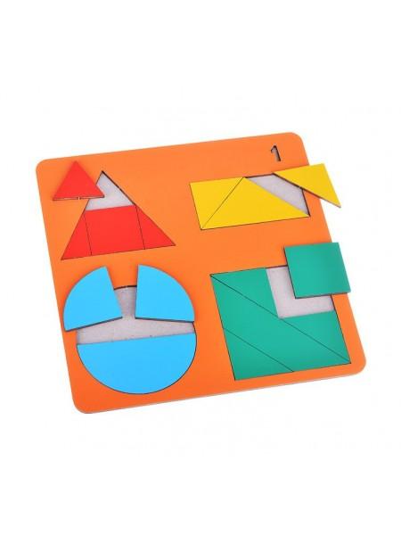 Геометрические головоломки для детей «Веселая геометрия» №1, Оксва