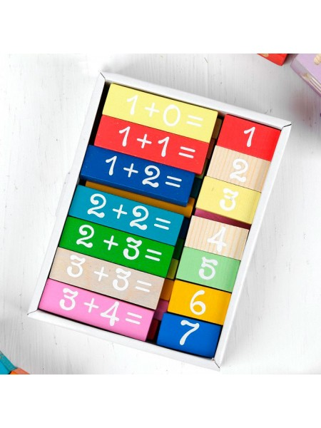 """Логический игровой набор """"Учимся играя. Решаем"""" 36 дет., Томик 1-86"""