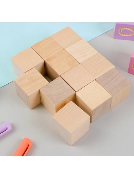 Кубики Неокрашенные, 12 шт. Пелси ПИ661