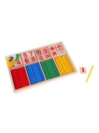 Счётные палочки, цифры и знаки, 72 элемента