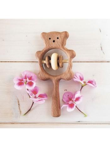 Погремушка Медвежонок, Леснушки L0315 (Натуральное дерево) купить