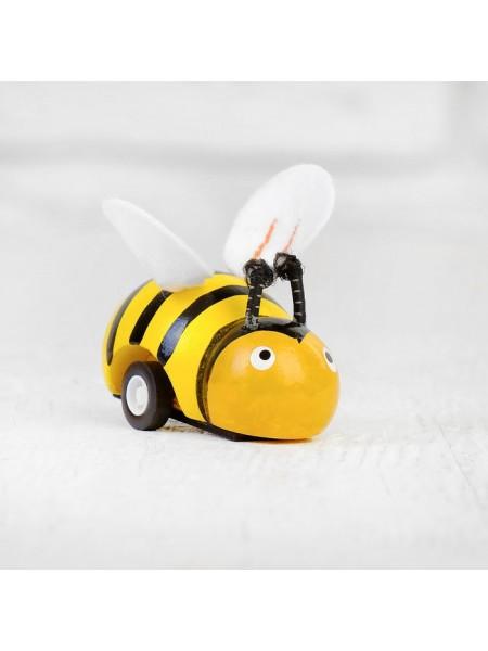 Деревянная Инерционная Игрушка «Пчёлка»
