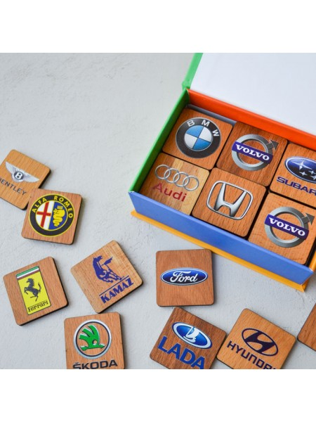 """Мемори """"Автоэмблемы"""" в картонной коробочке Царицынская игрушка CI-ME032"""