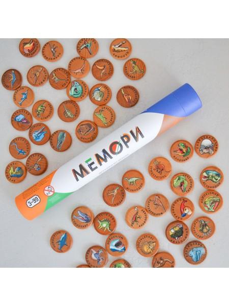 Мемори Динозавры в тубусе, Царицынская игрушка CI-ME047