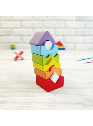 """CUBIKA Игрушка сортер для малышей """"Башня"""", 8 деталей"""