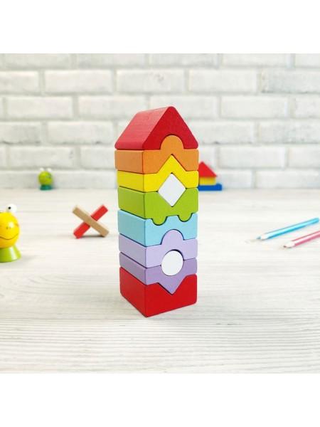 """CUBIKA Игрушка сортер для малышей """"Башня"""", 10 деталей"""