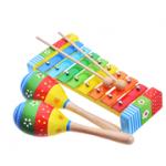Детские музыкальные игрушки из дерева