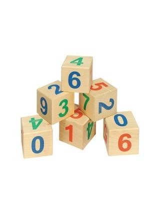 Деревянные кубики «Веселый счет», 6 штук