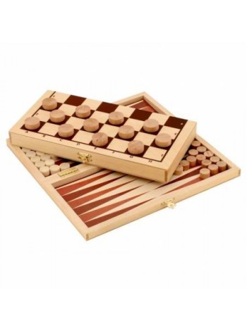 Деревянный Набор настольных игр Шашки+нарды купить