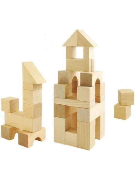 Деревянный конструктор строительный набор №1 24 элемента