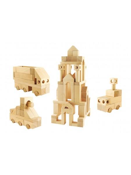 Деревянный конструктор  Строительный набор №3, 90 деталей