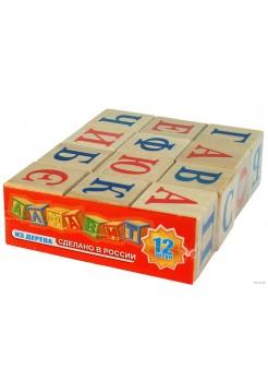 Кубики Алфавит, 12 шт Пелси ПИ668