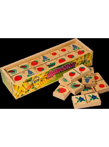 Деревянная развивающая игра «Домино детское, Ягоды» купить