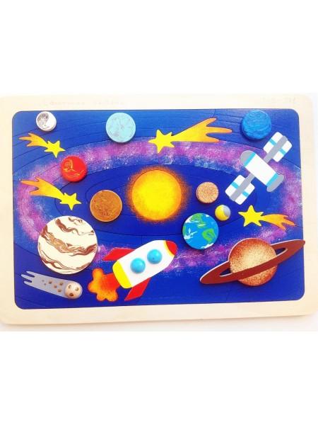 """Мозаика-вкладыш """"Солнечная система"""", 31 деталь"""