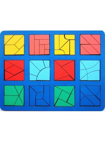 """Игра """"Сложи квадрат"""" Б.П.Никитин, 3 уровень (макси) купить"""