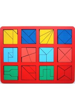 """Игра """"Сложи квадрат"""" Б.П.Никитин, 2 уровень (макси)"""