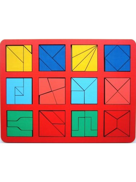 "Игра ""Сложи квадрат"" Б.П.Никитин, 2 уровень (макси) Smile Decor Н005"