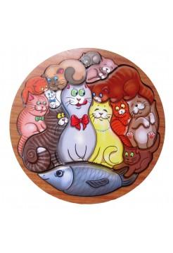 Головоломка Коты, 13 кошек - Smile Decor П014