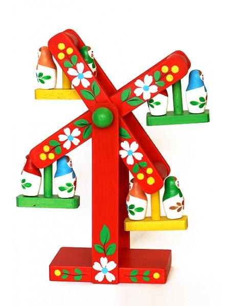 Деревянная игрушка Карусель  с матрешками, Климо C85