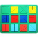 """Игра """"Сложи квадрат"""" Б.П.Никитин 1 уровень (макси), Smile Decor H004"""