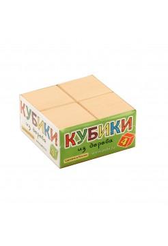 Кубики Неокрашенные, 4 шт.