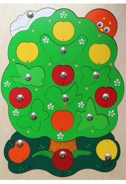 Магнитная мозайка Яблоня-загадка, 23 детали