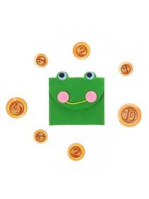 "Кошелёк с монетами ""Лягушка"", монеты 2,5-4 см"