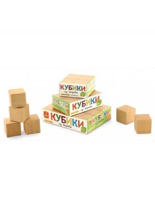 Кубики Неокрашенные, 6 шт. Пелси ПИ662