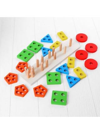 Логическая пирамидка Геометрик, 5 фигур