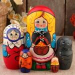 Матрёшка «Красная шапочка», сюжетная, 5 кукольная, 17 см