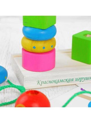 "Пирамидка ""Геометрия"", Краснокамская игрушка ПИР-118"