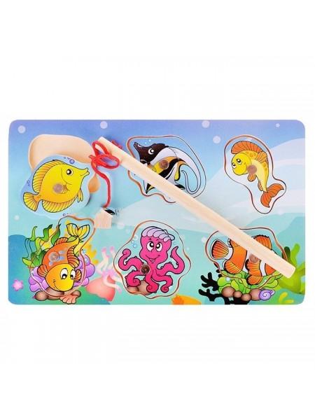 Магнитная рыбалка Поймай рыбку (6 фигурок-вкладышей)
