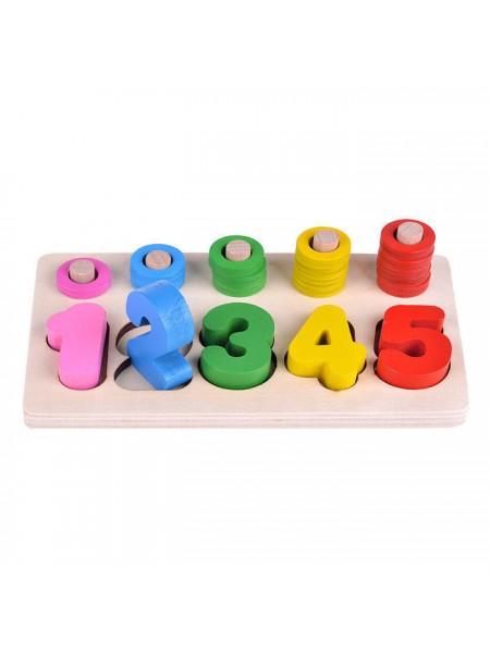 Деревянная игрушка Логика от 1 до 5