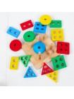 Пирамидка-сортер Доска с геометрическими фигурами Геометрик купить