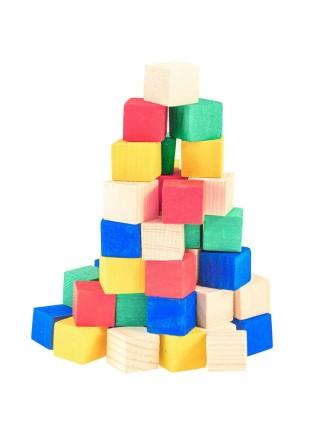 Деревянные игрушки Кубики Счетный материал Д250а