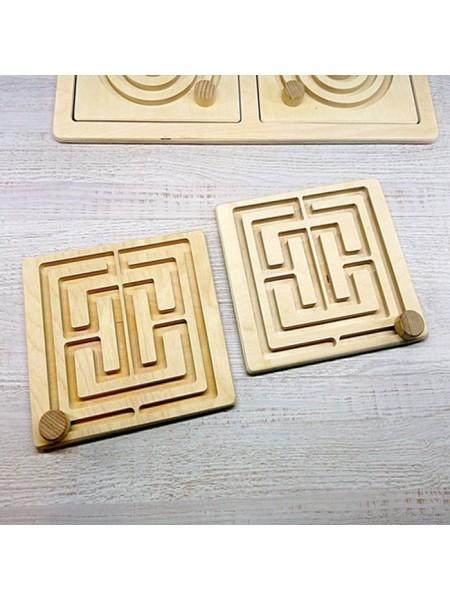 Сменный Вкладыш Квадрат (Лабиринт) для межполушарной доски, Радуга Кидс