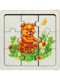 Пазл Мишка с ягодами, Smile decor П012
