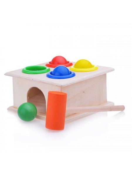 Стучалка квадратная, с 4 шариками и молоточком