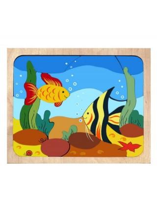 "Рамка-вкладыш ""Рыбки"", 31 элемент"