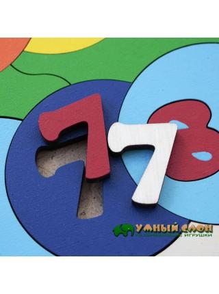 """Мозаика-пазл """"Учимся считать"""", 39 деталей"""