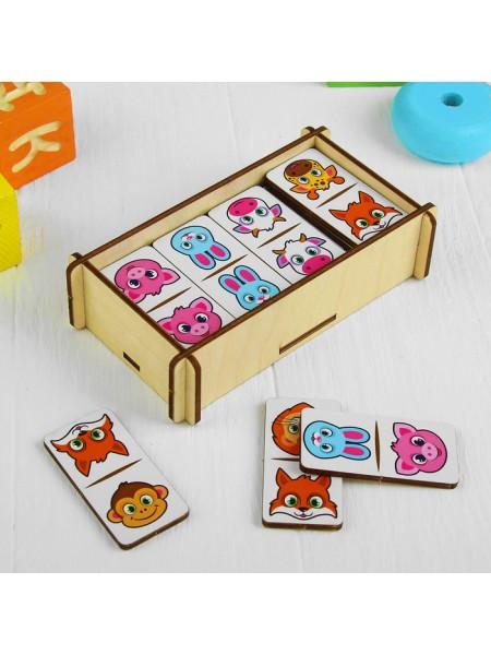 """Домино для малышей """"Животные"""", 28 элементов (крупные плашки)"""