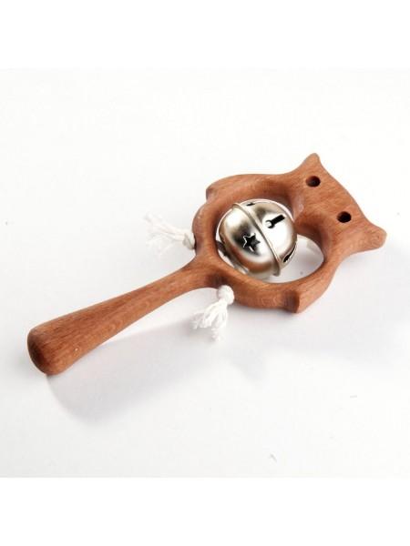 Погремушка с бубенцом «Совушка», Леснушки