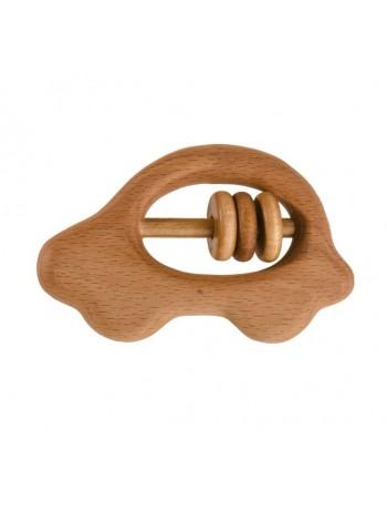Деревянная Погремушка - грызунок Машинка, купить
