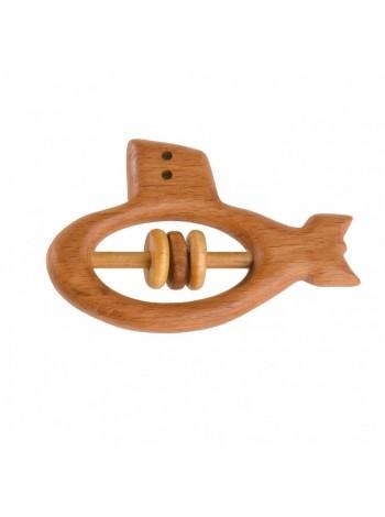 Деревянная Погремушка - грызунок Подводная лодка, купить