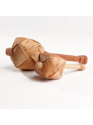 Шаркунок берестяной на палочке Круглый маленький, Леснушки