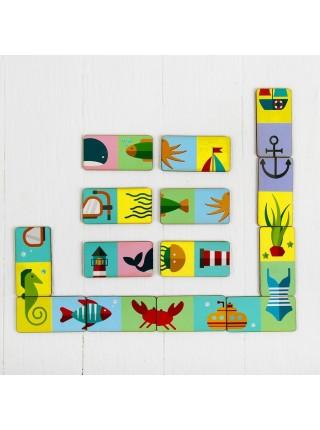 """Домино """"Морское"""" 14 фишек (крупные фишки), Мастер игрушек IG0106"""